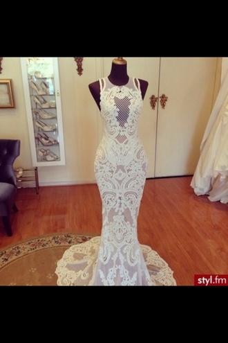 ivory dress ivory white dress white bodycon dress tightfit prom dress prom high heels wedding dress lace dress lace dress uk pounds style