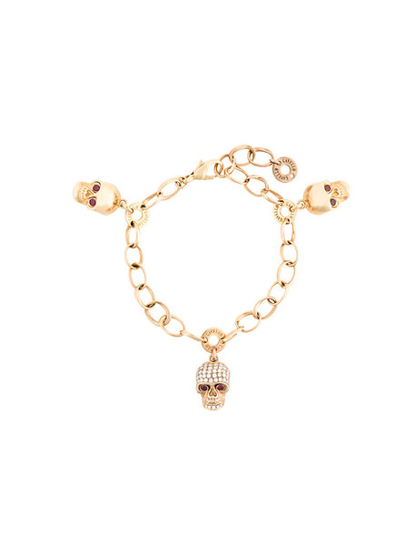 Gavello skull women charm bracelet gold grey metallic jewels