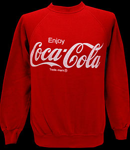 Mens Vintage Clothing Vintage Red Enjoy Coca-Cola Sweatshirt L @ Monster Vintage