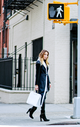 the marcy stop blogger coat top jeans bag shoes