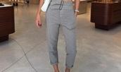 pants,negin_mirsalehi,luxury brand,grey,instagram,high waisted