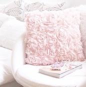 girly,bedding,pillow,pastel pink,pastel,roses,holiday gift,girly wishlist,coat