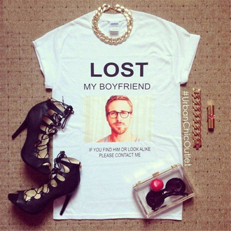 t-shirt lost my boyfriend paul