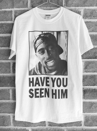 t-shirt tupac black text white t-shirt printed t-shirt