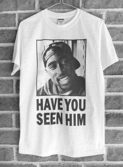 white tshirt t-shirt tupac black text printed tshirt