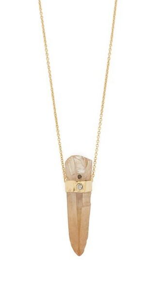 necklace gold orange jewels