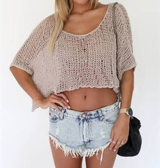 top crochet knitwear beach