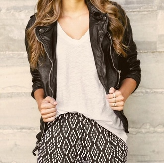 skirt abercrombie & fitch black and white tribal pattern jacket