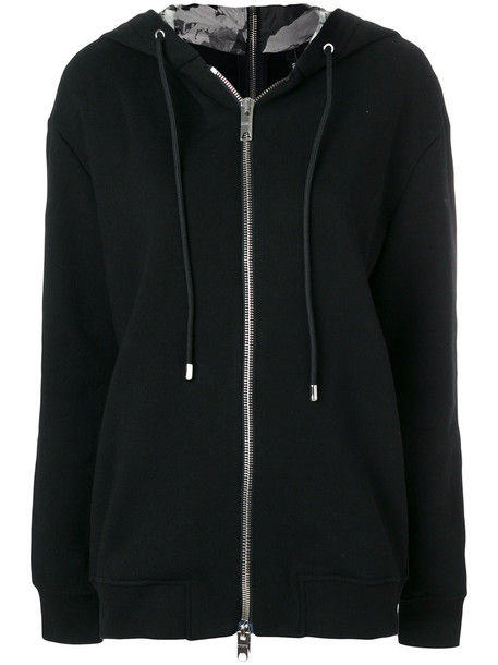 Versus hoodie back zip women cotton black sweater