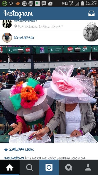 hat roses pink flowers kentucky derby big hat pink hat wide brimmed hat lace hat polka dots classy classy woman satin satin hat