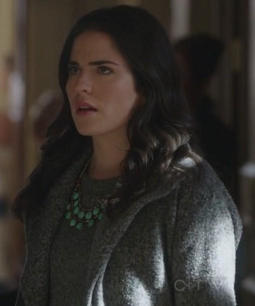 coat hodded grey how to get away with murder Laurel Castillo Karla Souza