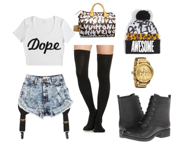 jewels crop tops boots garter beanie louis vuitton bag hat shirt shorts shoes underwear
