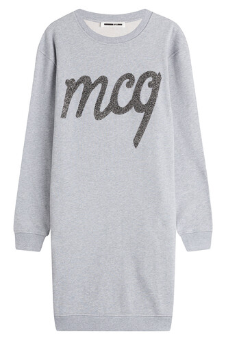 dress sweatshirt dress cotton grey