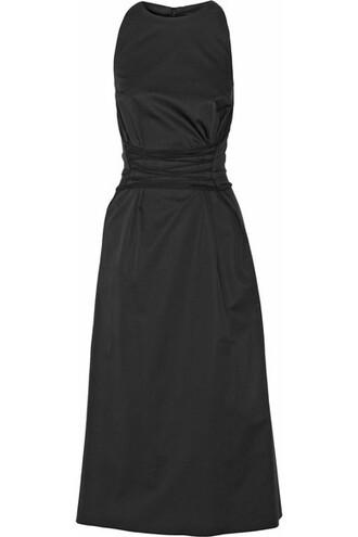 dress midi dress midi lace black wool