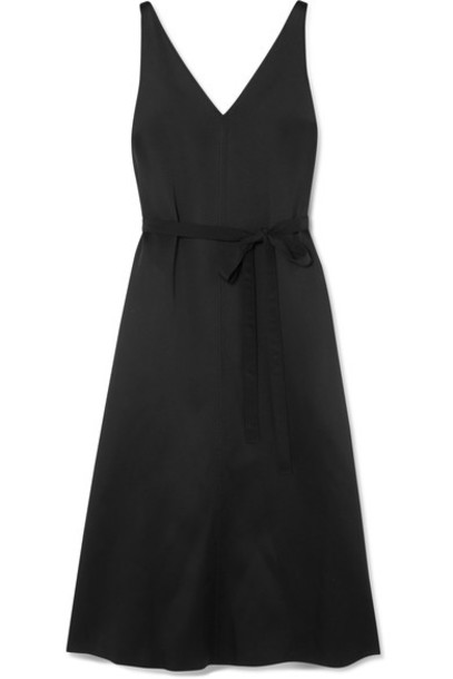 dress midi dress midi black satin