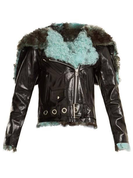 MARQUES ALMEIDA jacket leather jacket leather black