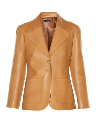 jacket leather jacket leather tan