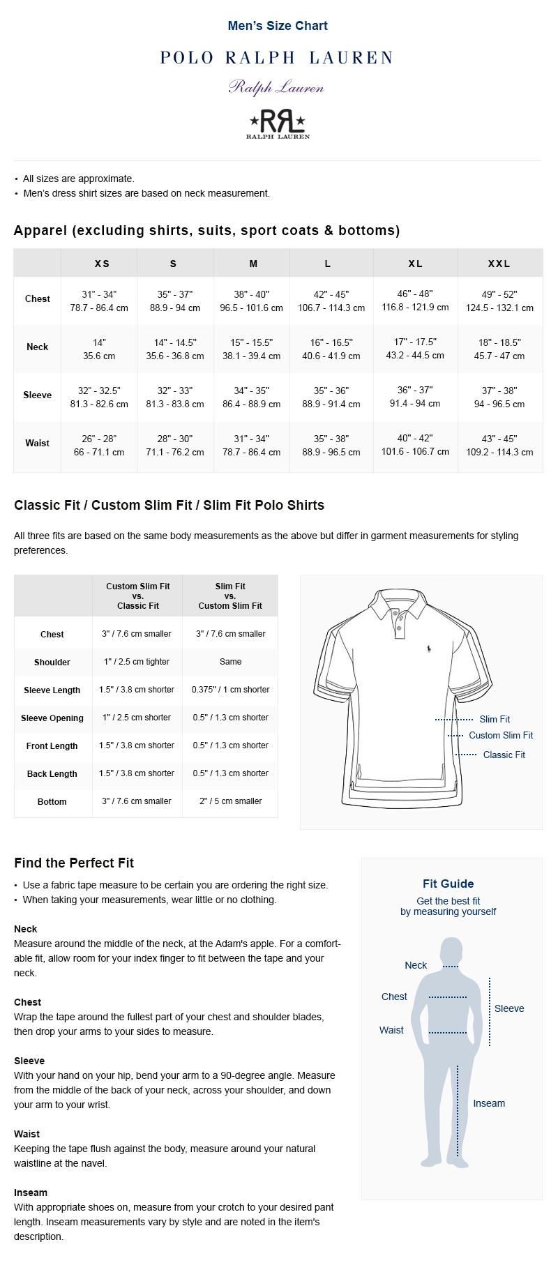Ralph Lauren Shirt Size Guide Dreamworks