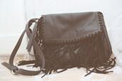 bag,fringes,fringed bag,black bag,crossbody bag,shoulder bag,leather bag,leather fringe bag,ethnic bag,native bag