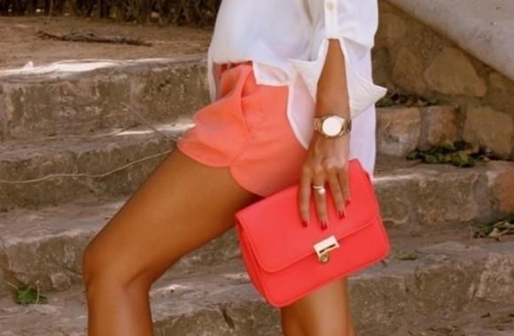 shorts orange shorts