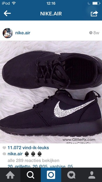 shoes sneakers black glitter love nike running shoes fashion girly shoes