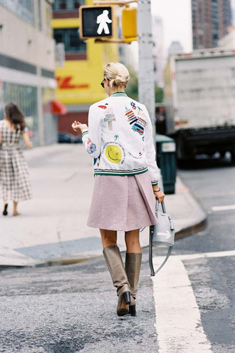 vanessa jackman blogger jacket bag shoes