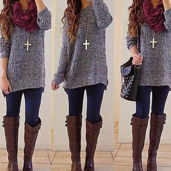winter sweater winter outfits sweater bag jacket jewels boots shoes winter outfits