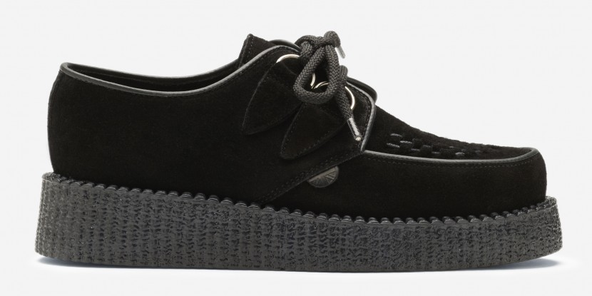 best sneakers e0d56 4ce38 Underground Shoes | Single Sole Wulfrun Creepers Black Suede | Shoes,  Brothel Creepers,Underground,England