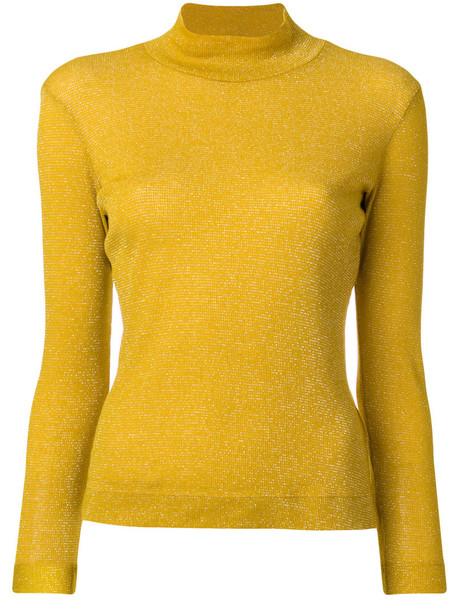 GOLDEN GOOSE DELUXE BRAND top women cotton yellow orange