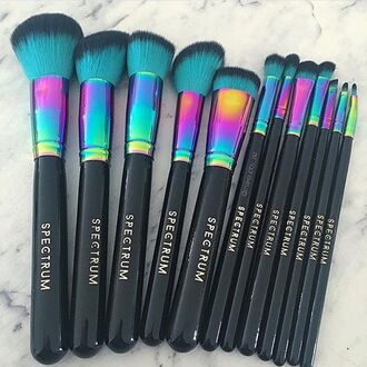 make-up makeup brushes party make up makeup bag makeup table natural makeup look face makeup makeup palette mermaid reflective rainbow black rose diamonds spectrum brushes spectrum make up brushes