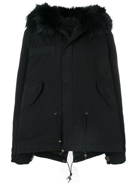 parka fur women dog cotton black coat