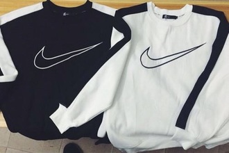shirt black and white nike sweatshirt 90s style need tips long sleeves nike shirt fashion sweater