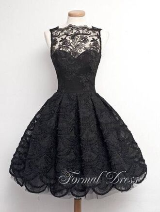 dress black dress beautiful prom dress homecoming dress lace dress