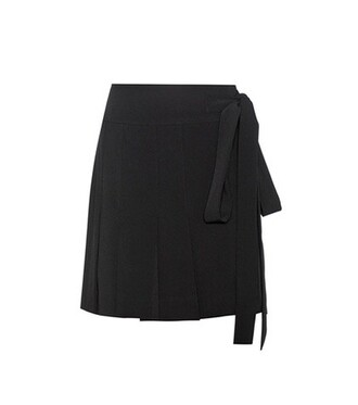 skirt wrap skirt pleated black