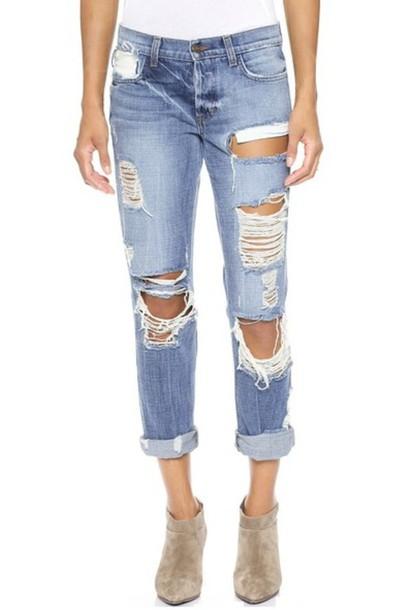 jeans blogger fashion blogger boots light blue blue jeans shopbop shopbop.com ripped jeans destroyes jeans