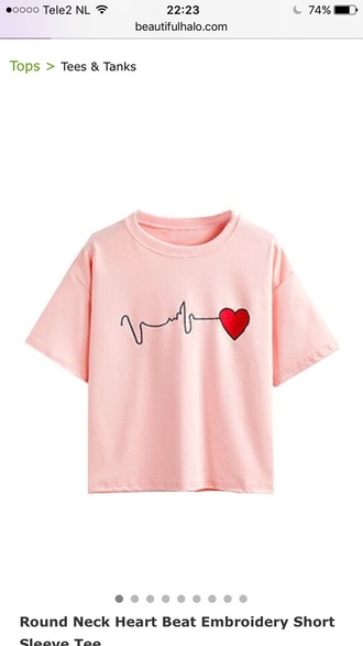 shirt love pink fashion casual light pink teenagers cute trendy style beautifulhalo