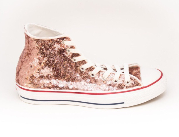 shoes rose gold converse high top sneakers e2d919005b45