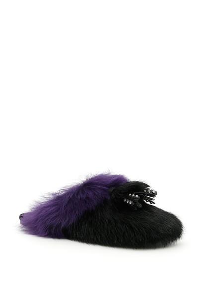 Prada fur shoes
