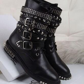 shoes biker boots