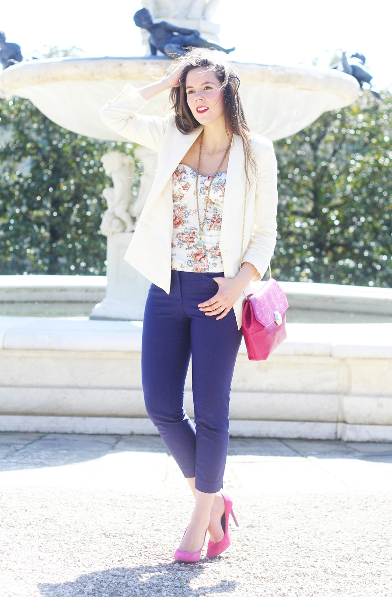 Outfit del giorno / Outfit of the day: floreal and Bvlgari bag - Irene's Closet - Fashion blogger outfit e streetstyle