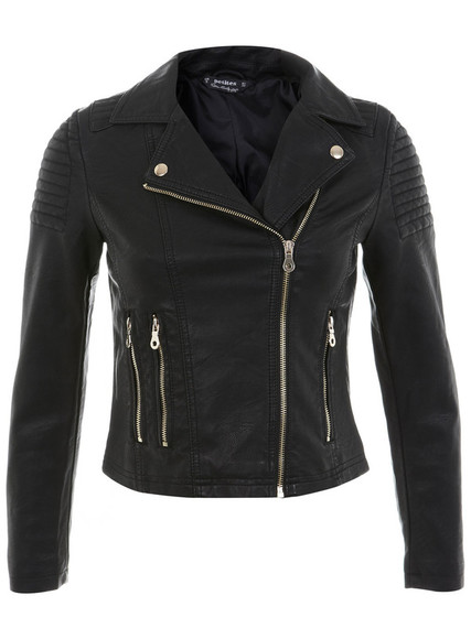 jacket faux leather jacket faux leather biker jacket gold detail gold details