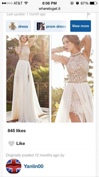 dress white dress lace dress prom dress