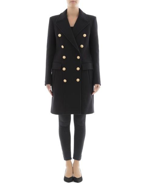 Balmain coat wool coat black wool