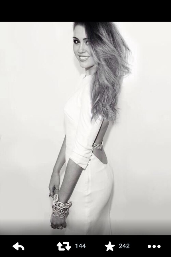 miley cyrus dress white white dress