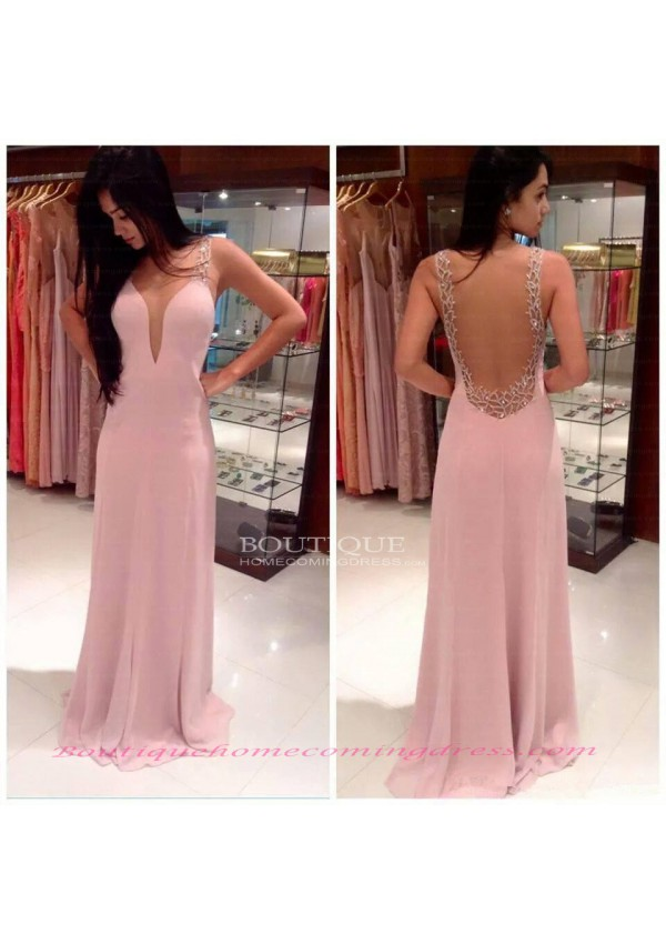 Straps sleeveless natural 2015 prom dress
