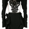 Dsquared2 - puff sleeve mini dress - women - silk/polyamide/polyester/virgin wool - 40, black, silk/polyamide/polyester/virgin wool