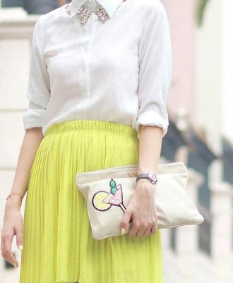skirt clutch cute pastel chiffon chiffon skirt