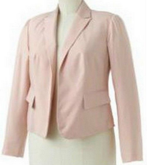 APT 9 Womens Plus Pastel Pink Soft Open Front Lined Blazer Jacket 3X NEW $80 | eBay