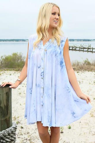 dress amazing lace beach dress blue tie dye summer spring flowy