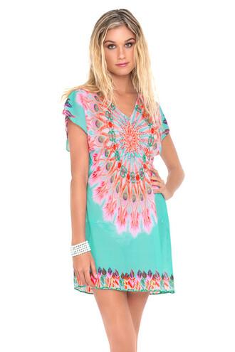 dress 2016 luli fama luxury multicolor beach dress cover up bikiniluxe